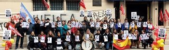 Protesta personal laboral Buenos Aires.