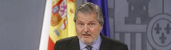 El ministro de Educación, Cultura y Deportes y portavoz del Gobierno, Íñigo Méndez de Vigo, durante la rueda de prensa posterior al Consejo de Ministros.