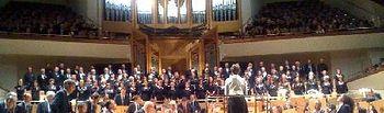La Banda de Música de la Diputación, durante su actuación en el Auditorio Nacional.