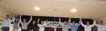 Candidatura de Barrax, encabezada por Antonio José Iniesta.