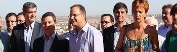 Reunión de César Luena y Emiliano García-Page con alcaldes en Toledo