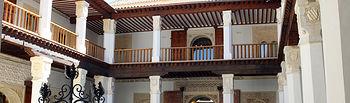 El patio del Palacio de Fuensalida forma parte de la red de patios visitables con motivo de la festividad del Corpus Christi. Foto: JCCM.
