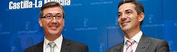 Marcial Marin, consejero de Educacion, Cultura y Deporte y Francisco Javier Morales, director general de Cultura