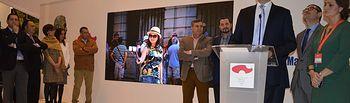 Álvaro Gutiérrez durante la presentación en Fitur de los proyectos turísticos de la Diputación