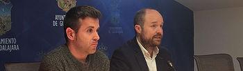 Alejandro Ruiz y Angel Bachiller en rueda de prensa.
