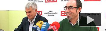 José Luis Gil, secretario general de CCOO de Castilla-La Mancha, junto a Francisco de la Rosa, secretario general de CCOO en Albacete.