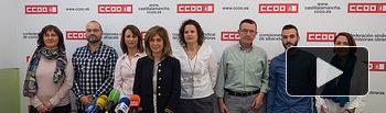 Presentación de la nueva Comisión Ejecutiva de CCOO Albacete elegida en el XI Congreso de la Unión Provincial