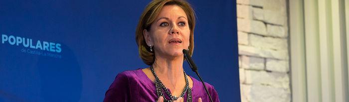 María Dolores Cospedal, presidenta del PP de Castilla-La Mancha