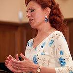 Ana Luisa Espinosa, soprano albaceteña, durante una actuación.