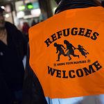 Acto en solidaridad con los refugiados bajo el lema 'No a la Europa Fortaleza'