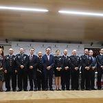 Entrega de las condecoraciones a policías locales de Castilla-La Mancha 2019, en el acto institucional celebrado en el campus universitario de la Fábrica de Armas de Toledo.