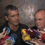 Antonio Banderas junto a Francisco Grau