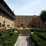 Patio interior del Castillo de Sigüenza, actual Parador de Turismo.