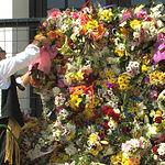 Instatánea de la Ofrenda de Flores a la Virgen de Los Llanos de Albacete.