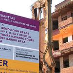 Inicio de las obras de demolición en el barrio de La Milagrosa