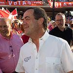 José Bono en el mitin de Pedro Sánchez en Albacete.