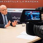 Pedro Antonio Ruiz Santos, delegado provincial de la JCCM en Albacete, durante una entrevista en La Cerca.TV.