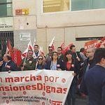 """Concentración por unas """"pensiones dignas"""" en Hellín"""