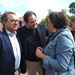 El presidente del PP CLM, Francisco Núñez, durante una visita a la Feria de Albacete. Foto: La Cerca - Manuel Lozano Garcia