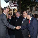 Su Majestad el Rey recibe el saludo del delegado del Gobierno en la Comunidad Autónoma de Castilla-La Mancha, José Julián Gregorio