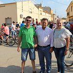 El alcalde de Albacete asiste a la XII Marcha Cicloturista de la pedanía albaceteña de Los Anguijes