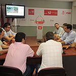 Óscar López reitera el compromiso del PSOE con los sindicatos y los trabajadores para derogar la reforma laboral.
