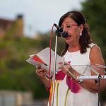 Natividad Gómez Redondo, periodista y presentadora del acto del inicio de las Fiestas del Barrio Sepulcro-Bolera.