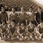 Gran amante del deporte, José Francisco Roldán practicó el Balonmano. Foto: Equipo de Balonmano en el que jugó en la década de los 70 el actual Comisario Jefe de la Policía Nacional en Albacete. En la imagen, agachado, el 1º de la Izq.