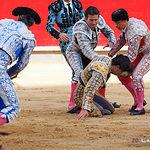 Cogida Juan del Álamo - Corrida 16-09-17 - Primer toro