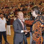 Samuel Flores bajó al coso albaceteño para recibir el aplauso del público asistente.
