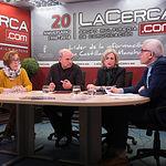 Amparo Villar del Saz, vocal de la FAVA, José Reina Martínez, presidente de la FAVA, Amelia Valero López, vicepresidenta de la FAVA y Manuel Lozano Serna, director del Grupo Multimedia de Comunicación La Cerca