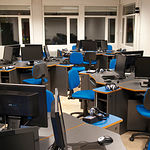 Instalaciones de la sala bilingüe en el Centro Asociado de la UNED en Albacete.