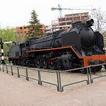 Locomotora del Parque Lineal de Albacete
