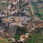 Estado inicial de la escombrera de las minas de Almadén antes de su restauración como Parque.