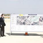 El presidente del Gobierno, Mariano Rajoy, acompañado de los ministros de Defensa y de Fomento, visita las obras de la autovía A-32 Linares-Albacete, en el tramo de la circunvalación Sur de Albacete.