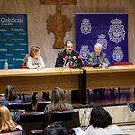 Presentación del conceierto a baneficio de Cáritas, organizado por la Comisaría de la Policía Nacional en Albacete