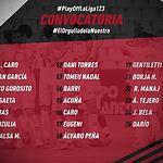 Convocatoria jugadores Albacete Balompié contra el Mallorca - 12-06-19