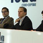 Encuentro con empresarios en la sede de la Confederación de Empresarios de Albacete (FEDA) junto al economista Daniel Lacalle.