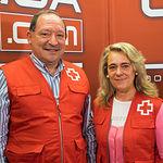 Francisco Gómez, Técnico de Empleo de Cruz Roja Provincial de Albacete y Rosa Torres, Directora de Empleo de Cruz Roja Provincial de Albacete.