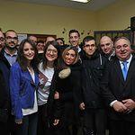 El secretario general del PP de Castilla-La Mancha, Vicente Tirado, y la vicesecretaria de Estudios y Programas del Partido Popular, Andrea Levy, en Torrijos (Toledo)
