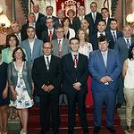 La novena corporación de la Diputación de Albacete queda constituida con Santiago Cabañero como presidente