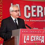 Manuel Lozano Serna, director General del Grupo Multimedia de Comunicación LA CERCA, durante su intervención.