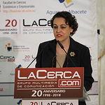 Magdalena Valerio, ministra de Trabajo, Migraciones y Seguridad Social, durante el  VIII Foro 'Castilla-La Mancha, de Cerca'.