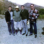 """Durante su vida profesional, Manuel Amador toreó por muchas plazas de España y América. En la imagen, el torero albaceteño en la finca del fallecido Mario Moreno """"Cantinflas"""", en Méjico, en el año 1966."""