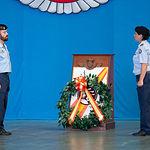 Relevo del mando de la Base Aérea de Los Llanos, en el que el Coronel Pedro Enrique Belmonte Jiménez pasa a ser el nuevo Jefe de la Base, del Ala 14 y comandante militar aéreo del Aeropuerto de Valencia. Foto: Manuel Lozano García / La Cerca