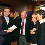 El presidente y el fiscal jefe del TSJCLM, junto a sus respectivas esposas, durante la celebración de la gala.