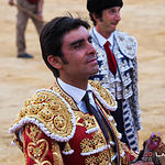 Miguel Ángel Perera escuchando el fandango que le cantó un aficionado - Su primer toro corrida Feria Taurina de Albacete - 14-09-17