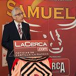 Manuel Lozano Serna, director del Grupo Multimedia de Comunicación La Cerca, durante su intervención en los IX Premios Taurinos Samueles.
