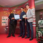 Ángel Ramírez, Luis Blázquez y Sergio Martínez en la Gala de entrega de los XI Premios Taurinos Samueles correspondientes a la Feria de Taurina de Albacete 2016