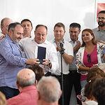 """Emiliano García-Page participa en la entrega de los premios """"Pablo Iglesias"""" del PSOE de Albacete en la Feria"""